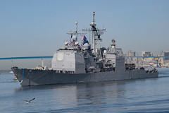 USS Lake Erie (CG 70) transits San Diego Bay, Nov. 18. (U.S. Navy/MC1 Woody S. Paschall)