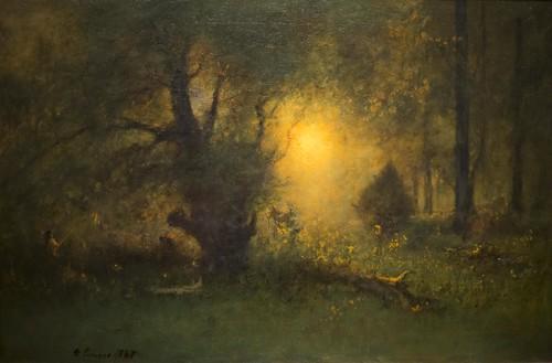 art museum clark clarkinstitute oil painting impressionism woods sunrise inness