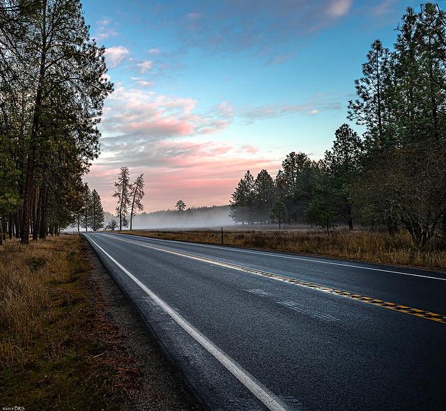 Sunset Road Heading East
