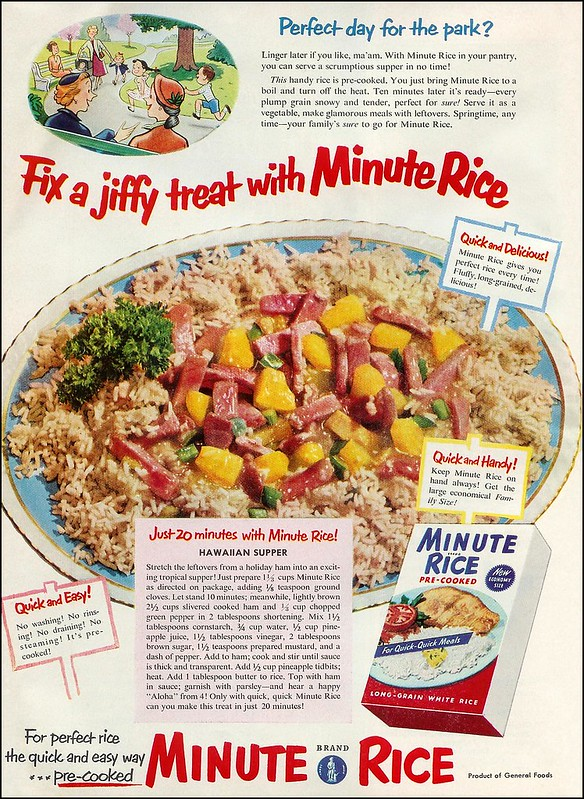 Minute Rice 1953