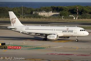 LY-EMU Airbus A320 Getjet Barcelona airport LEBL 10.08-19