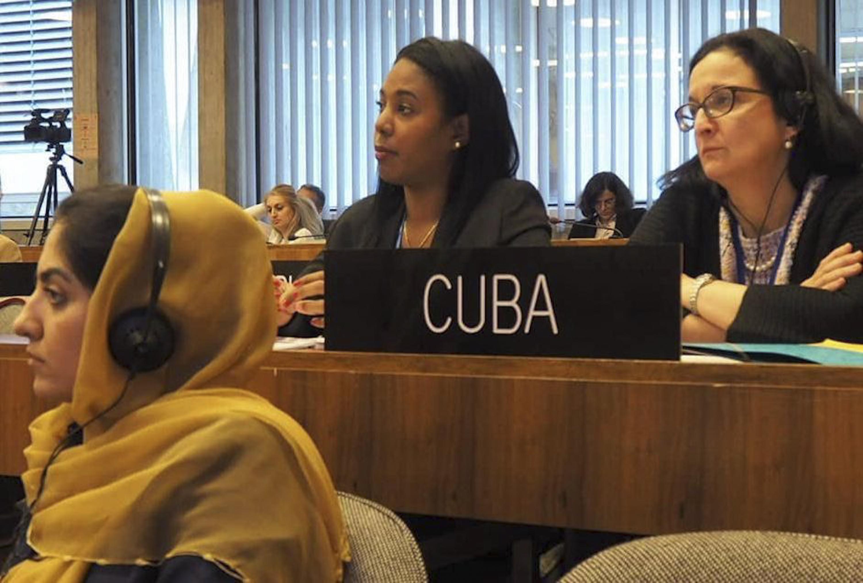 Unesco Ministra Aloha Núñez pronuncia discurso con motivo del traspaso de la presidencia del Mnoal a Azerbaiyán