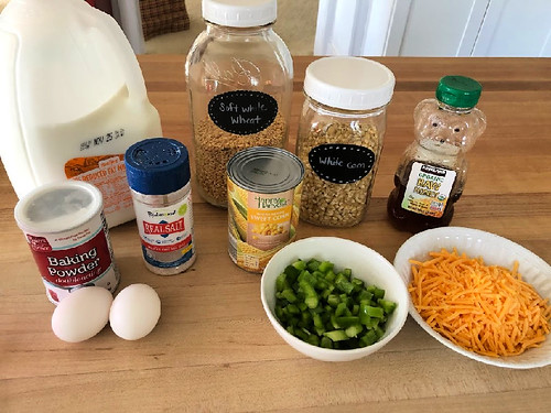 ingredients for homemade cornbread