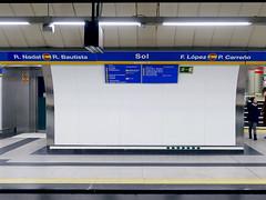 Copa Davis 2019. Estación de Metro de Sol, dedicado al equipo de España (Madrid)