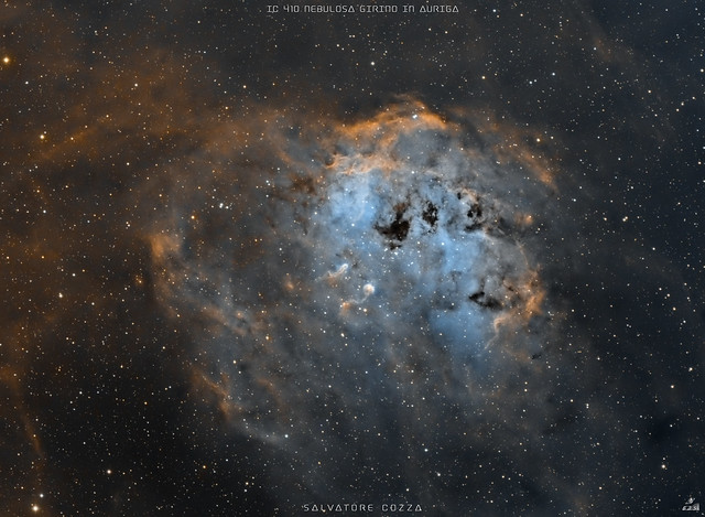IC 410 in Hubble palette (new version)