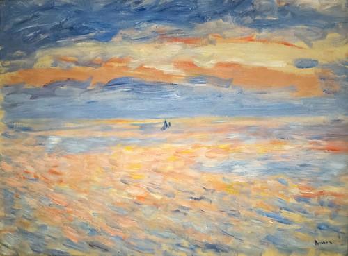 art museum clark clarkinstitute oil painting impressionism sunset boat ocean renoir