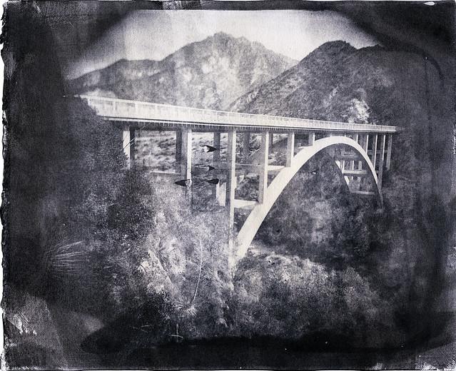 Upper Big Tujunga Narrows Bridge - Kallitype
