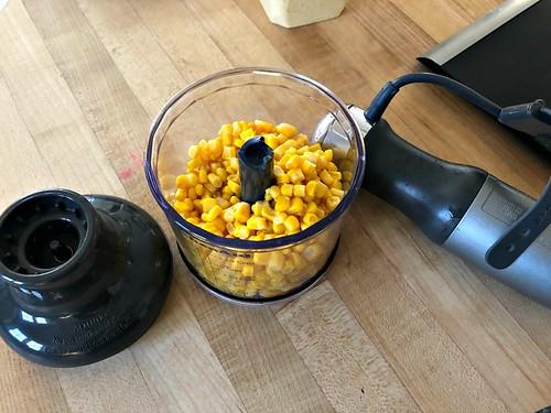 corn in blender