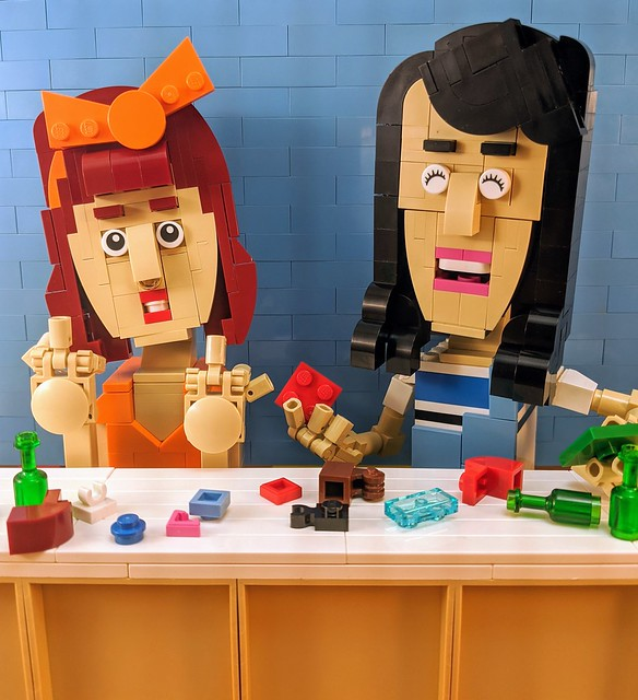 Drunk LEGO building at the TRY channel - Lolsy and Mary-Claire