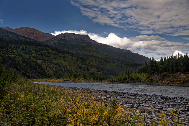 A View of Mount Healy While Walking Along the Shoreline of the Nenana River (Denali National Park & Preserve)