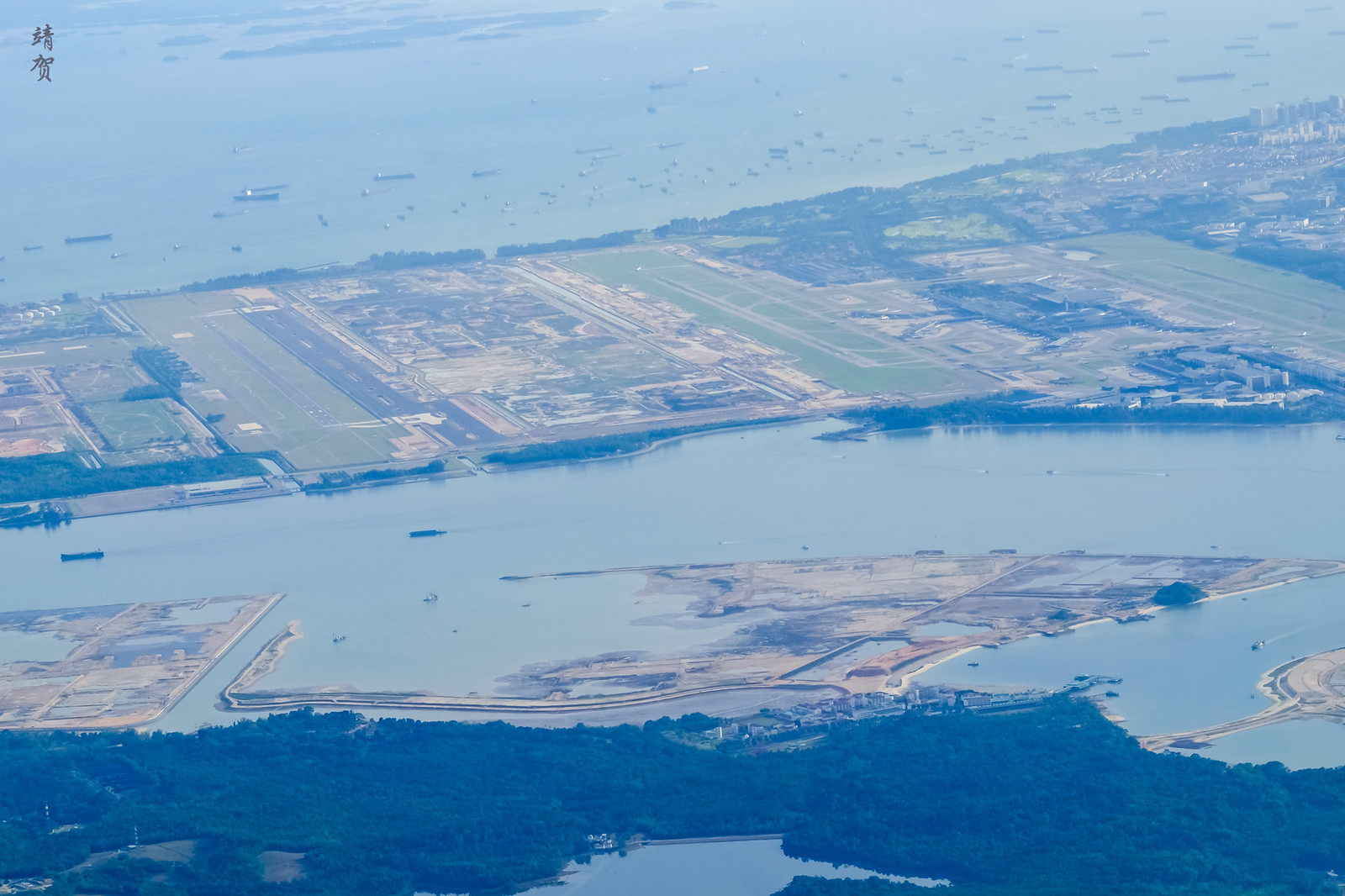 Aerial view of Changi Airport