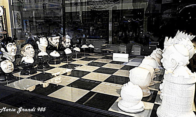 The Chess Set in a Store's Window - N1