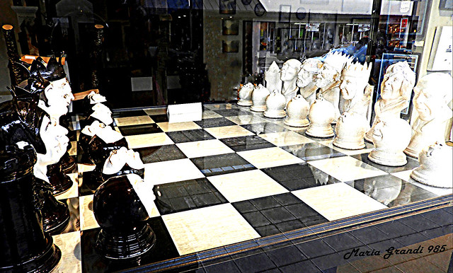 The Chess Set in a Store's Window - N2