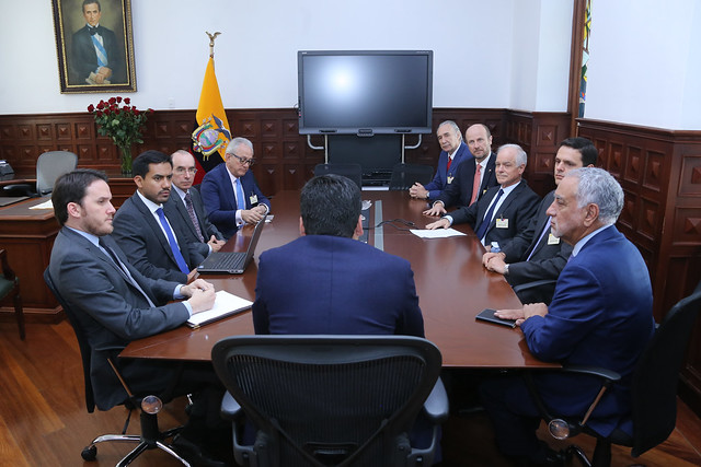 VICEPRESIDENTE MANTUVO UNA REUNIÓN CON REPRESENTANTES DE CODELCO CHILE, QUITO, 06 DE NOVIEMBRE DE 2019.