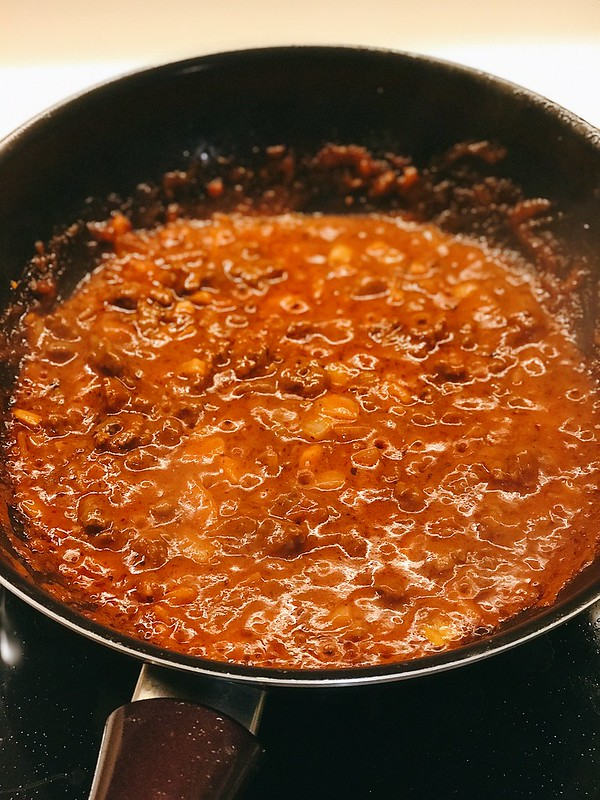 Bolognese bubbling away...smells so good!