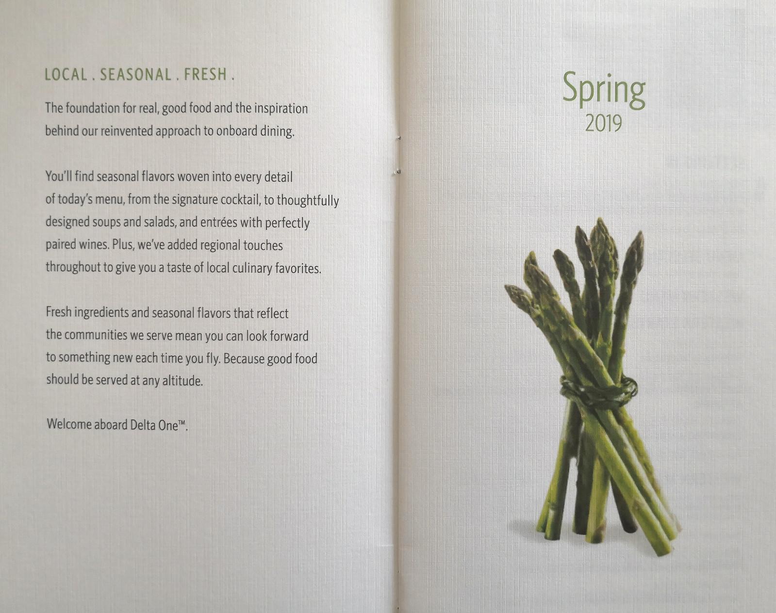 Spring 2019 menu