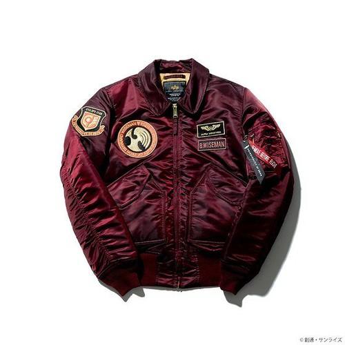 STRICT-G × ALPHA INDUSTRIES《機動戰士鋼彈0080 口袋裡的戰爭》巴納德・懷茲曼 CWU-45/P飛行夾克 (バーナード・ワイズマンモデル)