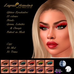 """Lupus Femina"" Glitter eyeshadow - Genus/Lelutka/Omega + BOM"