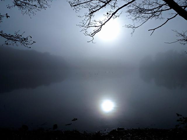 Lever du jour brumeux.