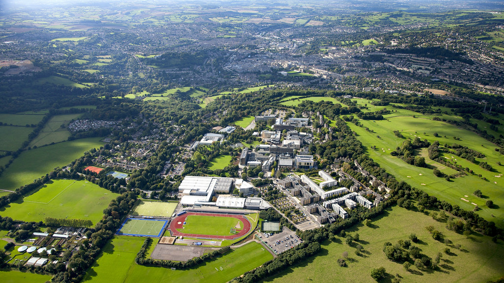 Claverton Down campus from the air