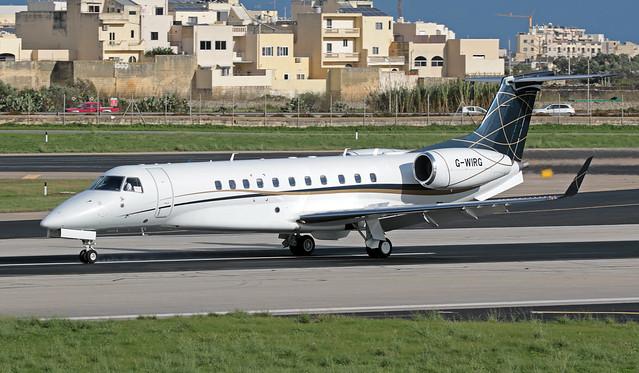 G-WIRG LMML 17-11-2019 Private Embraer ERJ-135BJ Legacy 650 CN 14501184