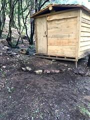 Nettoyage des alentours de la cabane à outils