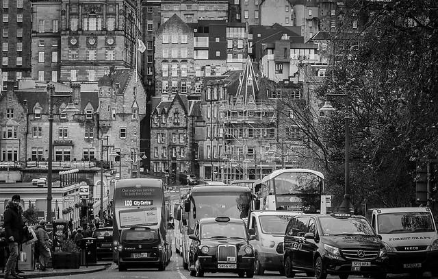 Edinburgh city centre traffic