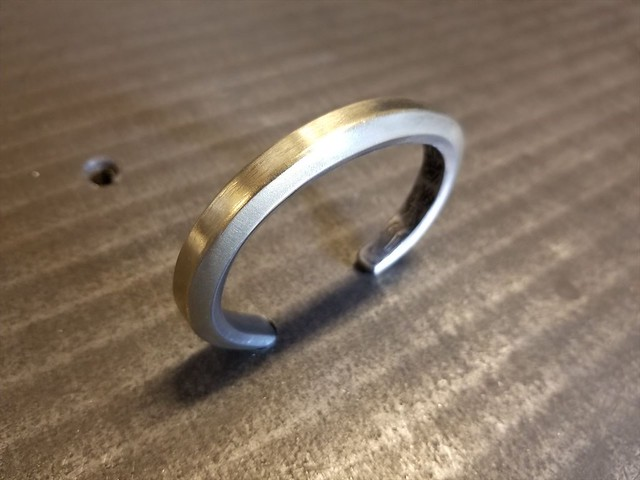 BRASS x STAINLESS BANGLE