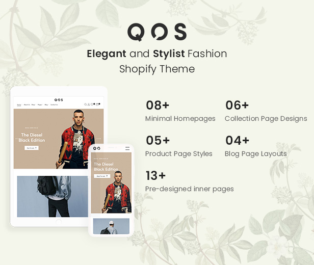 QOS Minimal Fashion eCommerce Shopify Theme