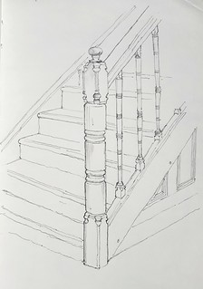 Staircase, 48 Woodstock Road, University of Oxford