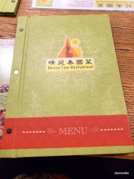 Sunny Thai Restaurant menu cover