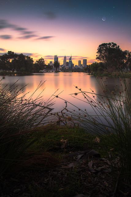 Darkness descends on Perth City