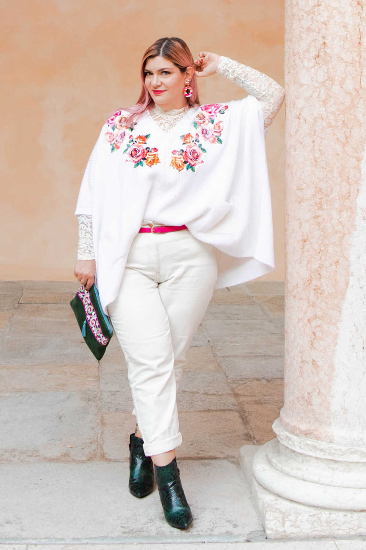 Outfit bianco curvy plus size visione Italia (3)