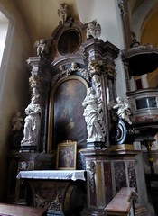Ljubljana (Croacia). Iglesia de Santiago. Altar lateral