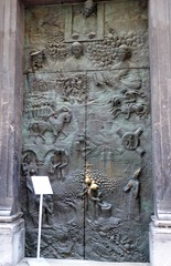 Ljubljana (Eslovenia). Catedral de San Nicolás. Puerta