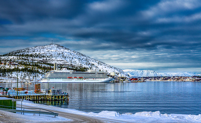 Viking Sky cruise ship docked in Alta, Norway-7a