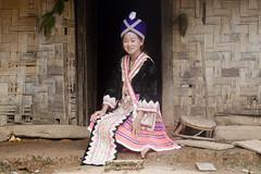 Femme Hmong, au Laos