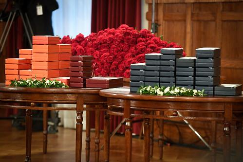 18.11.2019. Valsts prezidents Egils Levits Rīgas pilī pasniedz valsts augstākos apbalvojumus