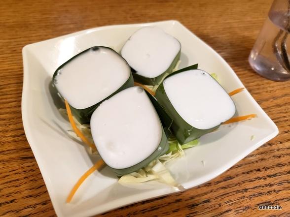 Thai coconut corn and sago pudding