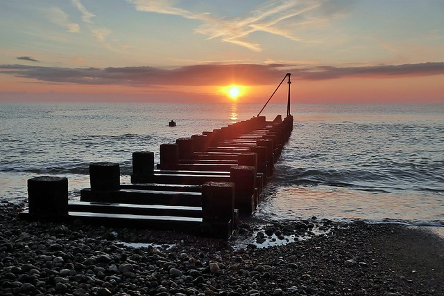 Sunrise at the end of the jetty