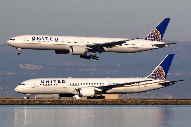United Airlines | Boeing 787-9 & 777-300ER | San Francisco International