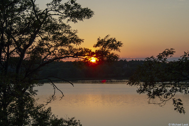 Sunset; Shoestring Bay, Cotuit, Cape Cod, MA, USA