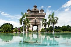 L'arc de triomphe de Patuxay, à Vientiane