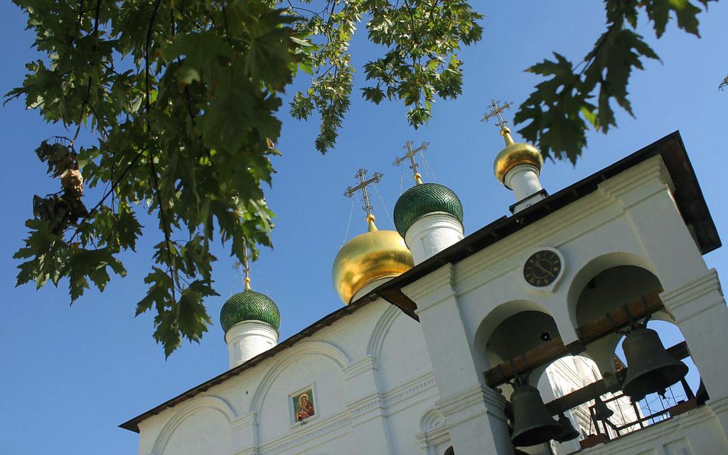 Holy Russia, Moscow, Cathedral of the Meeting of the Icon of Our Lady of Vladimir in Sretensky monastery, Bolshaya Lubyanka street / Rozhdestvensky boulevard, Meshchansky district. Правосла́внаѧ Цр҃ковь.