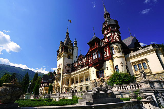 Magnificent Peleș Castle, summer residence of Romanian kings