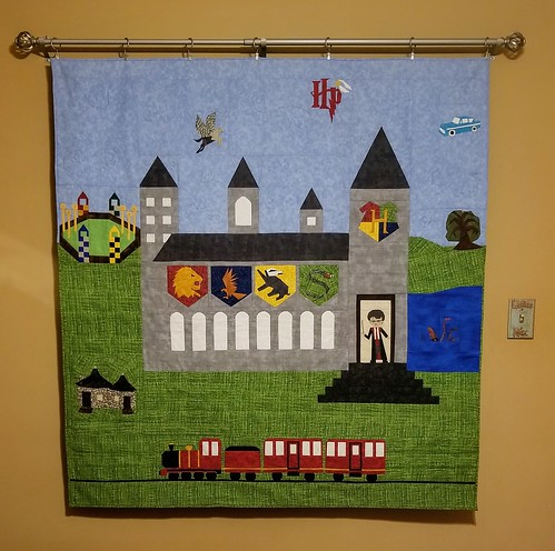 Hogwarts Castle and Grounds Quilt