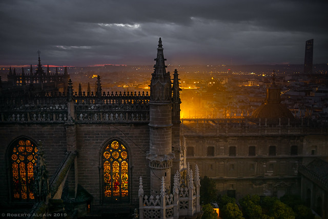 Cloudy sunset from the Giralda