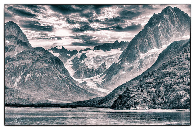 Kenai Fjords National Park, Alaska in B/W