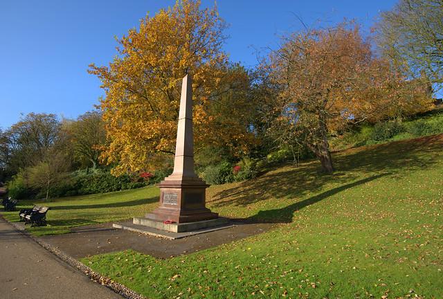 Memorial in Avenham Park, Preston