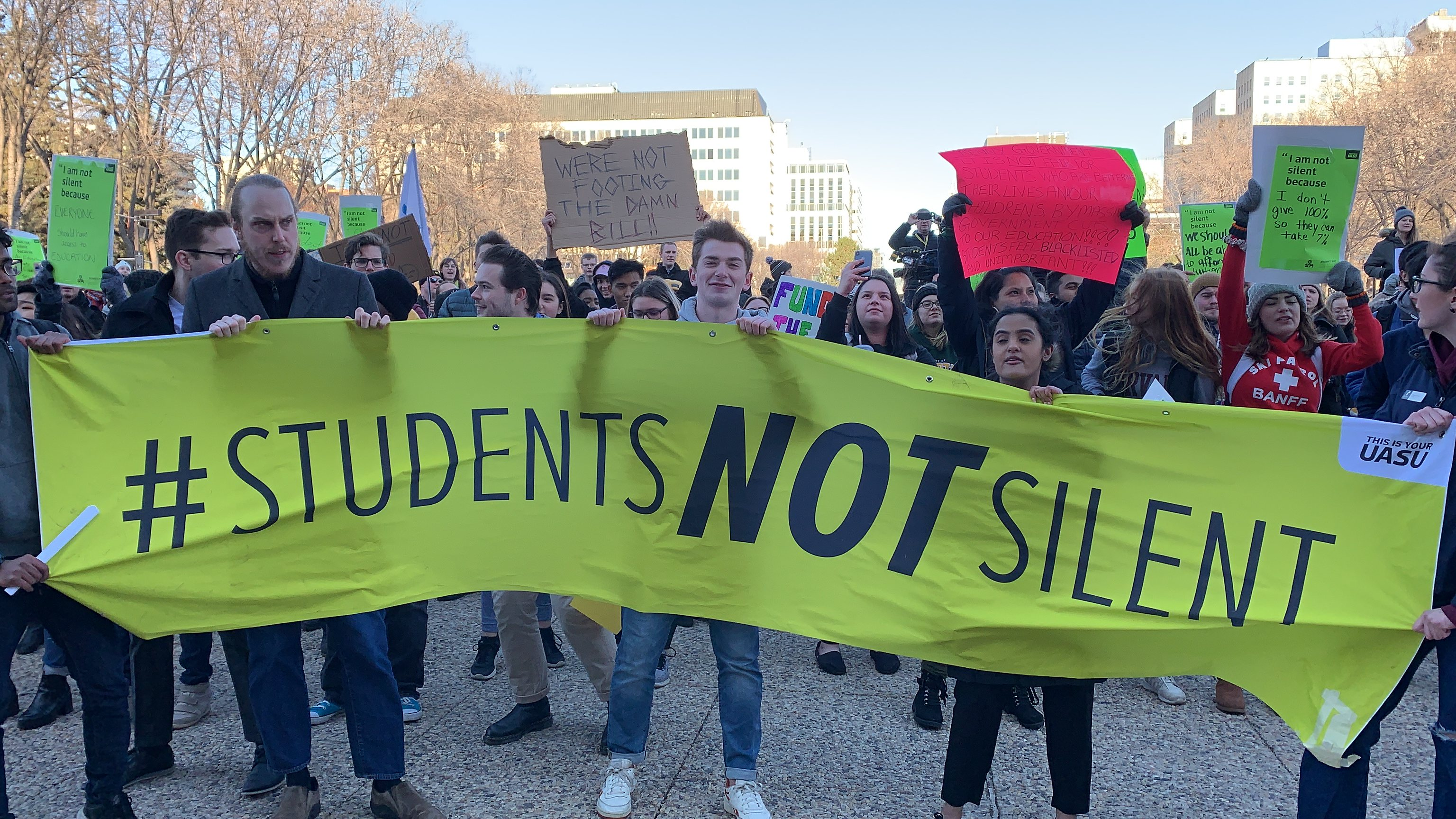 Student Protest Against Education Cuts